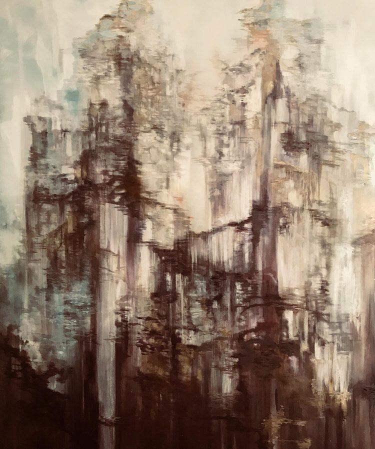 Painting of dark hanging trees